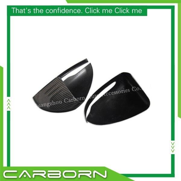 Pour Mercedes W205 W222 W213 W238 X205 2014 + Version d'entraînement à droite ajouter sur le Type fibre de carbone miroir couverture corps rétroviseurs latéraux