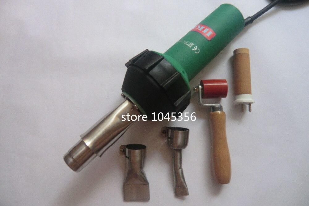 где купить  Hot Air Torch plastic welder Pistol 110V/220V 1600W+ 40mm flat nozzle +Roller +heater machine for welding pvc  по лучшей цене