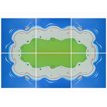 Базовая пластина для строительных блоков «Морской остров», 32x32 мм