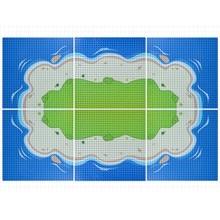 Plaque de Base 32x32 petits points Seabeach, Compatible avec les blocs classiques de bricolage, plaque de Base de lîle de la mer pour blocs de construction jouet, 100%
