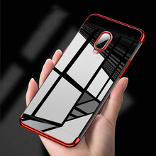 Soft TPU Case For OnePlus 7 Pro 6T 6 5T Cases Silicone Plated Shinning Cover Covers One Plus 5t Fundas Coque