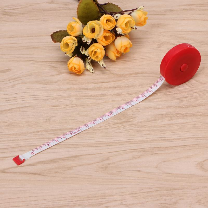 1PC Mini Tape Measure Retractable Ruler Tool Sewing Cloth Tailor Dieting 1.5m 60""