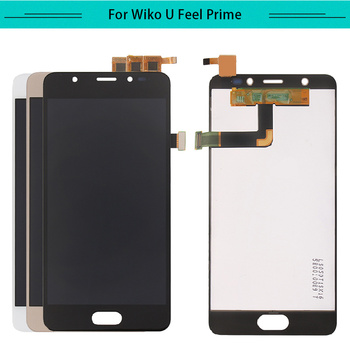 3pcs For Wiko U Feel Prime LCD Display Assembly Complete with touch Screen Replacement Free Shipping