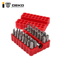 DEKO PT008 33pcs Security Bit Set with Magnetic Extension Bit Holder Tamper Proof Torq Torx Hex Star Screwdriver Bits Set(China)