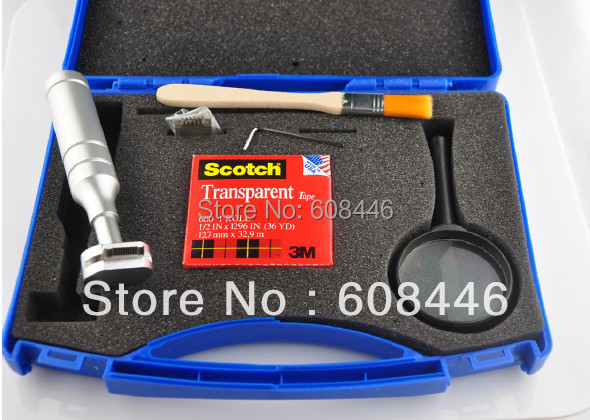 New CrossHatch Adhesion Tester Instruction Cross Cut Tester Kit for Paint Tool Sets