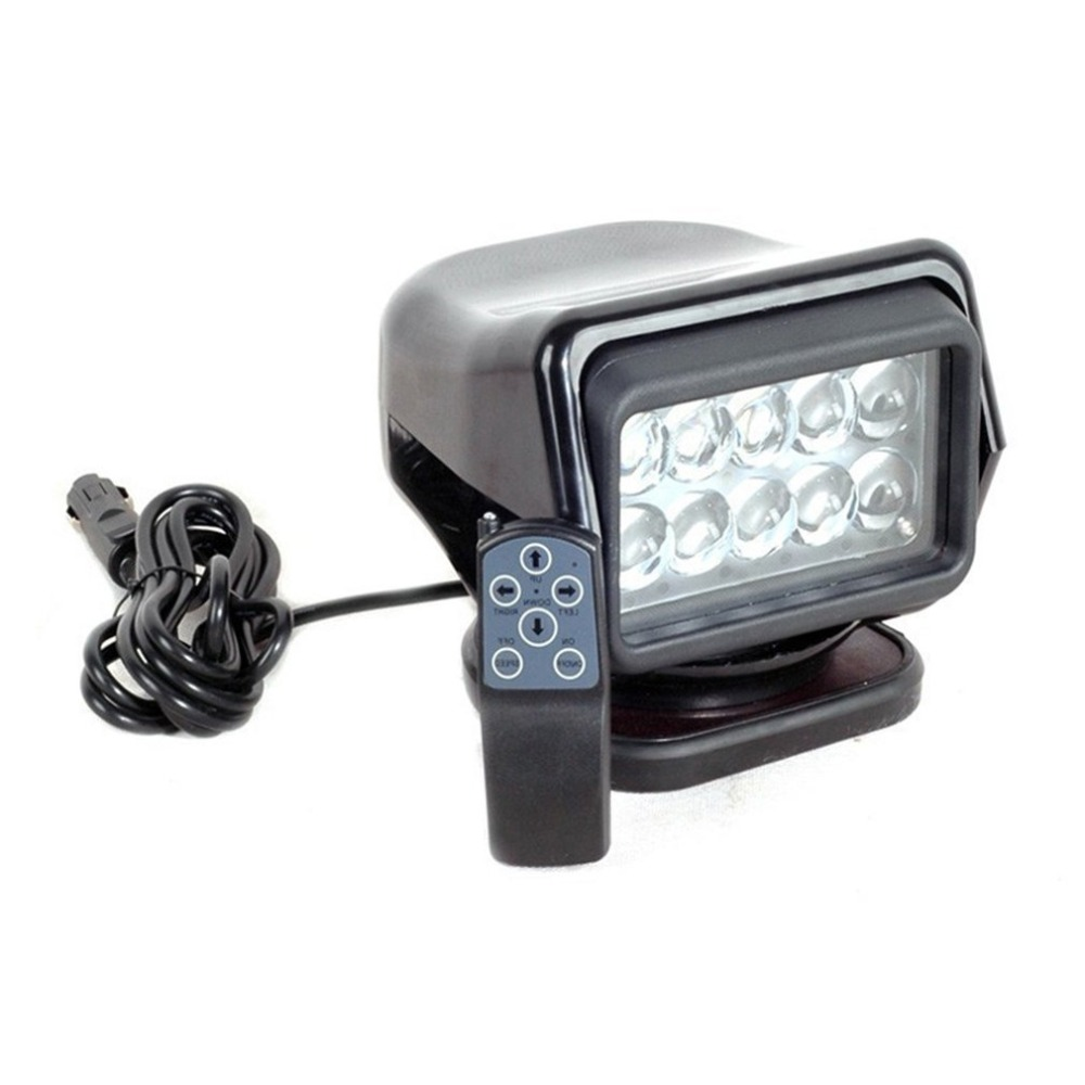 New 50W Spot Light Remote Control Super Bright LED Search Light Waterproof Outdoor Spotlight For Truck Marine Car