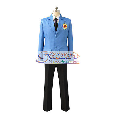 DJ DESIGN Ouran High School Host Club Boy School Blue Uniform COS Clothing Cosplay Costume