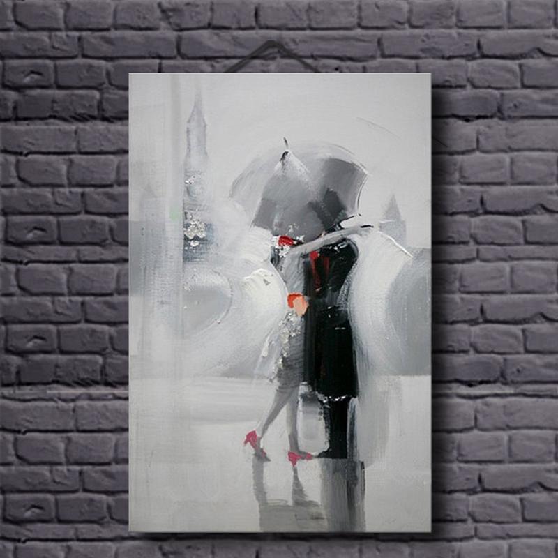 Οι λάτρεις στη βροχή Ρομαντικό - Διακόσμηση σπιτιού - Φωτογραφία 1
