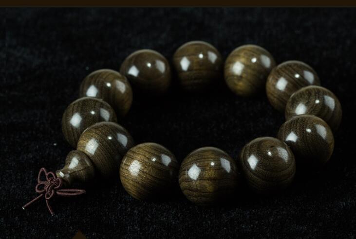 The hand 2cm men and women nanmu wood ebony Beads Bracelet phase yutang gold silk nanmu hand string 108 south red braceletbuddha beads necklace male and female couple models