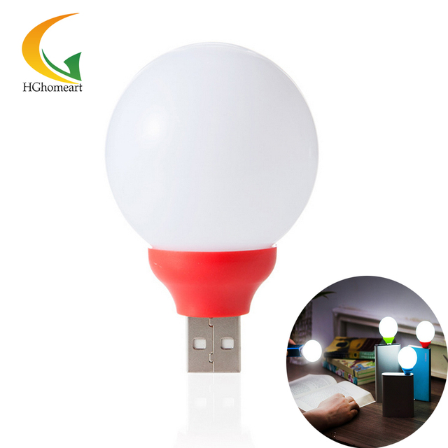 Portable Notebook Mini Usb LED Night Light spherical 5V Bulb led night lamp led energy saving lamp novelty usb lamp