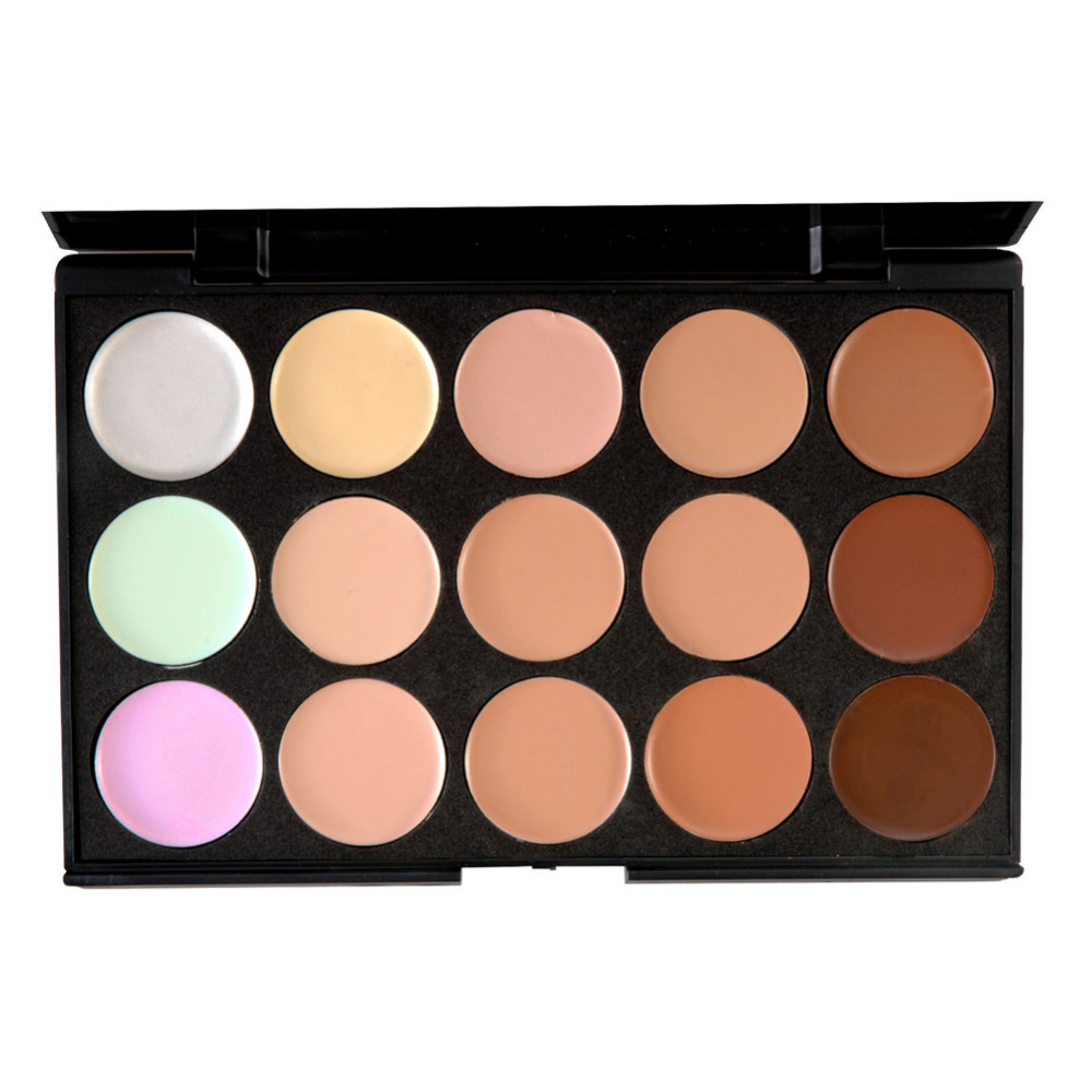 Pro15 kleuren / set gezicht concealer Contour gezicht crème make-up - Make-up