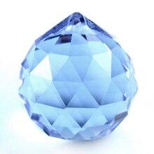 30mm Vintage cristal azul Feng Shui bola