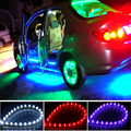 24cm 12V LED Universal Car Daytime Running Light Waterproof Flexible White LED DRL Strip Tail Stop Brake Fog Lamp