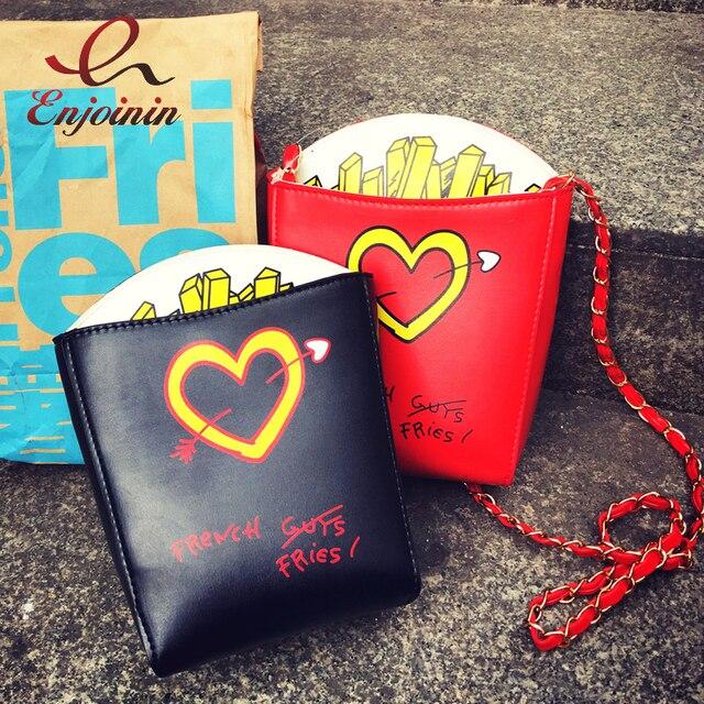 Персонализированные модные картошки фри формы с принтом букв прекрасный цепи сумка девушка кошелек crossbody Mini flap messenger bag