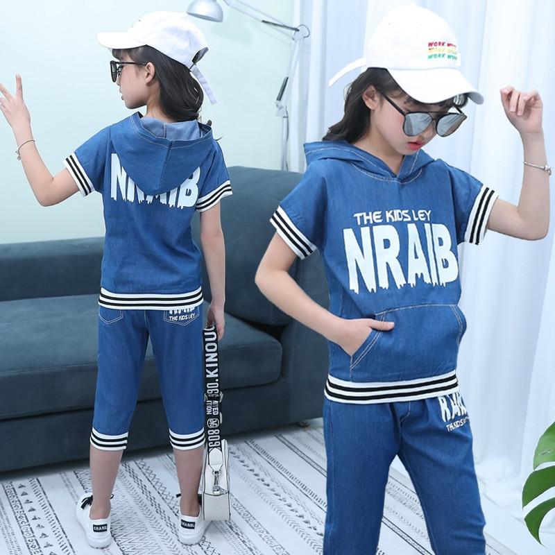 2018. gada jaunā zīmola bērnu džinsu uzvalku kvalitatīva mode 5 - Bērnu apģērbi - Foto 2