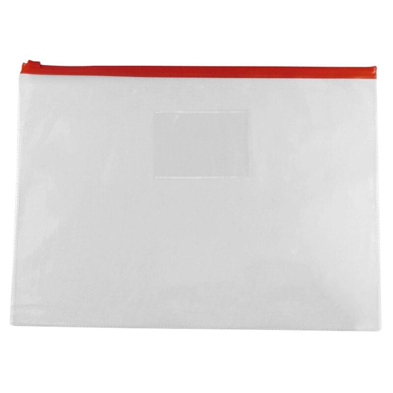 Affordable 5 Pcs Clear Plastic Water Proof Pen A4 File Paper Ziplock Bags Folders