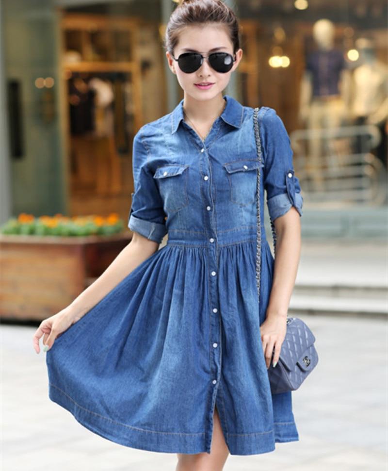 Vestido azul jean