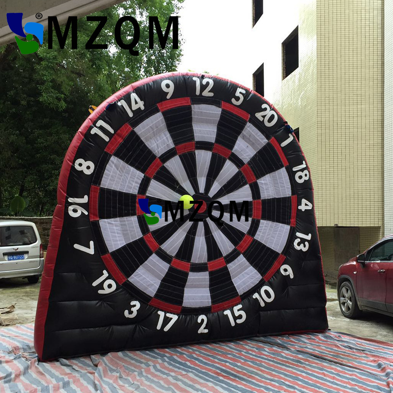 Hot sale Black red 3m/10ft height inflatable dart board inflatable football soccer dart board inflatable soccer darts game customized 3x1x2 5 meters inflatable dart game high quality inflatable dart board for adult and kids toys