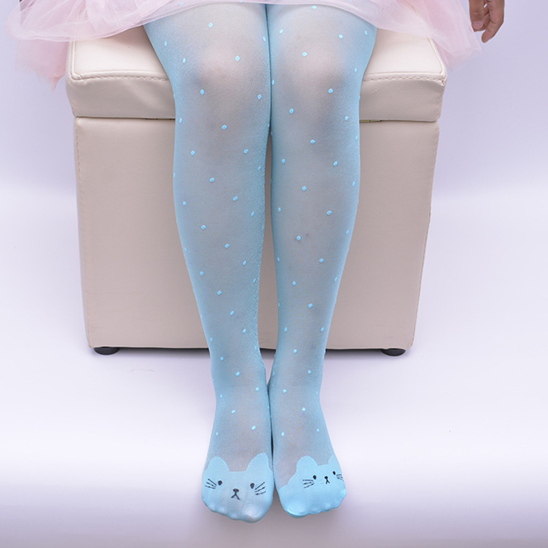 2017-Spring-Summer-Tights-For-Girls-Cartoon-Thin-Silk-Pantyhose-Kids-Candy-Color-Dot-Dance-Stocking-Child-Girls-Tights-With-Cats-1