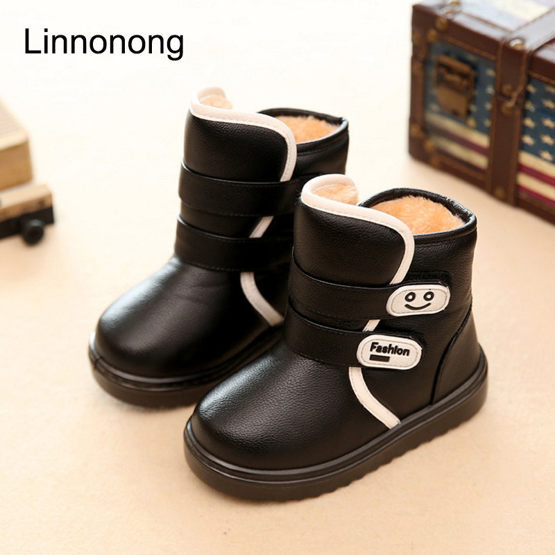 Winter-Kids-Plush-Snow-Boots-Children-Boys-Girls-Fashion-Boots-Antislip-High-Thick-Waterproof-Shoes-White-Black-Red-Child-Boots-2