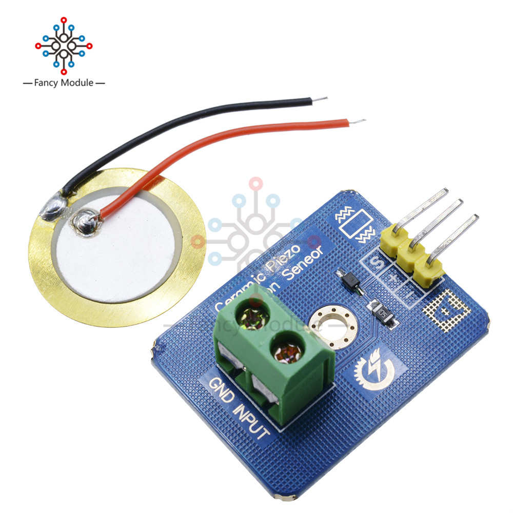 Ceramic Piezo Vibration Sensor Analog Output Electronic Components Supplies Sensors for Arduino Compatible with UNO R3 Module keyes analog temperature sensor for arduino red white