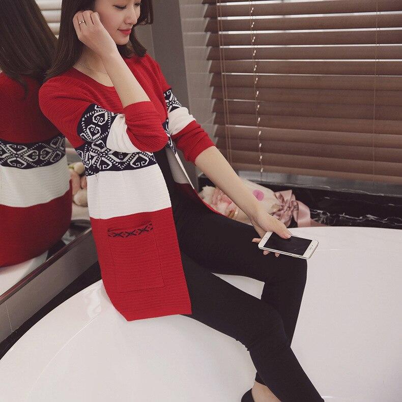 2016 nowych moda wiosna jesień damskie długie kardigany