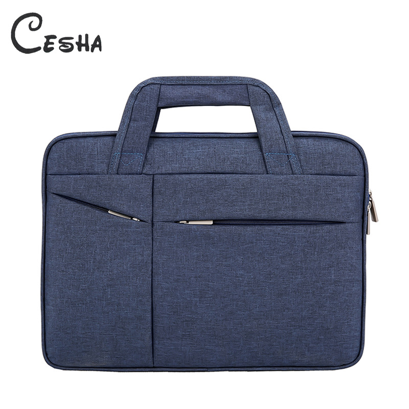 CESHA Fashion Men Durable Canvas Briefcase High Quality Durable 15inch Laptop Bag Business Men Documents Bag Portfolio
