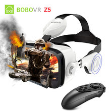 xiaozhai BOBO VR Z4 Glasses with Bluetooth Remote Google Cardboard Pro for Iphone Android Smartphone 2017 Biocular Immersive(China)