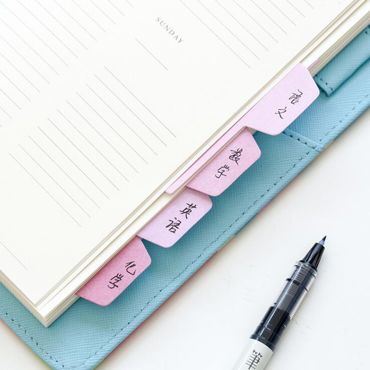 60 Yaprak / Paket Şeker Renk İndeksi Yapışkan Notlar Dizüstü - Not Defterleri ve Yazma Pedleri - Fotoğraf 5