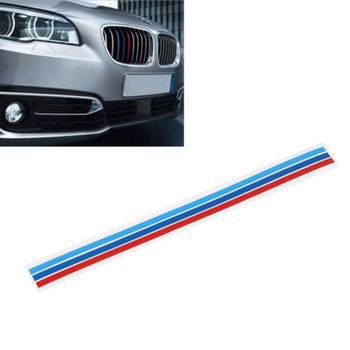 3-Color Car-Styling Decoration Grille Vinyl Strip Sticker Decal For BMW M3 M5 E36 E46 E60 E90 E92 Car Styling Accessories image
