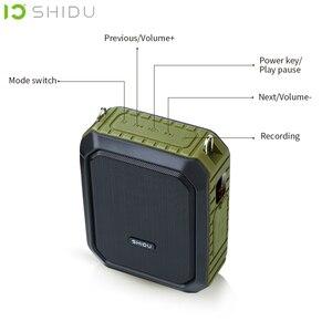Image 2 - Shidu 18W Draagbare Draadloze Bluetooth Speaker Waterdichte Voice Versterker Met Uhf Microfoon Voor Leraar Ondersteuning Aux Tf Usb Disk