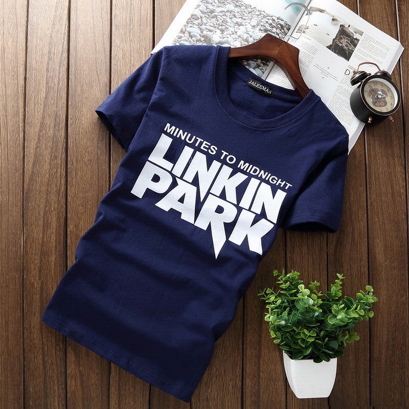 Men's   T  -  Shirts   5XL Tee   Shirt   Homme Summer Short Sleeve Men   T     Shirts   LINKIN PARK letter print Male TShirts Camiseta Tshirt Homme