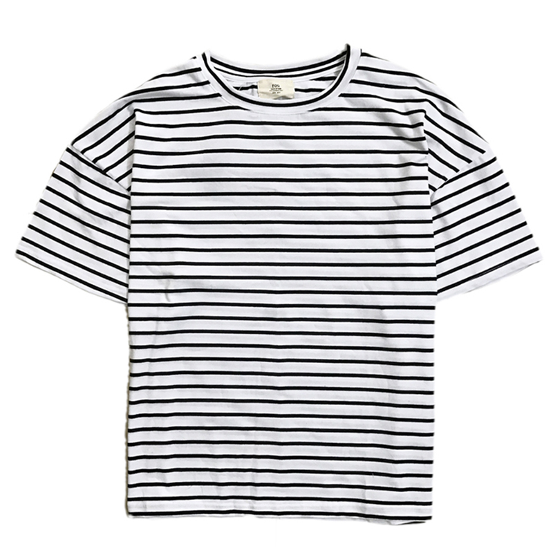 High Quality Black and White Stripe Mens Tee-Buy Cheap Black and ...
