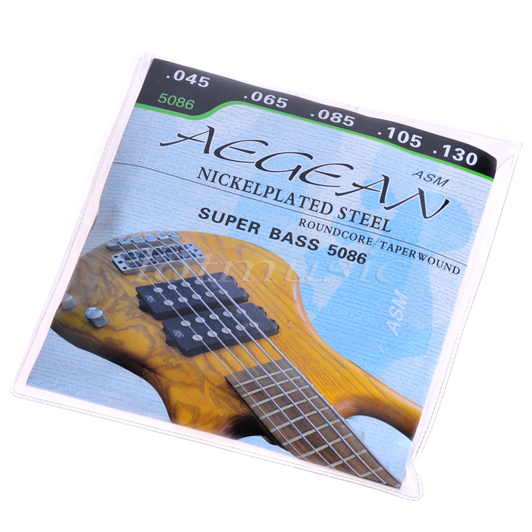 Electric Bass Strings Set 4 5 String Bass Strings Steel Core Nickel Alloy Wound 045 040 Guitar Parts Accessories rotosound rs66lc bass strings stainless steel