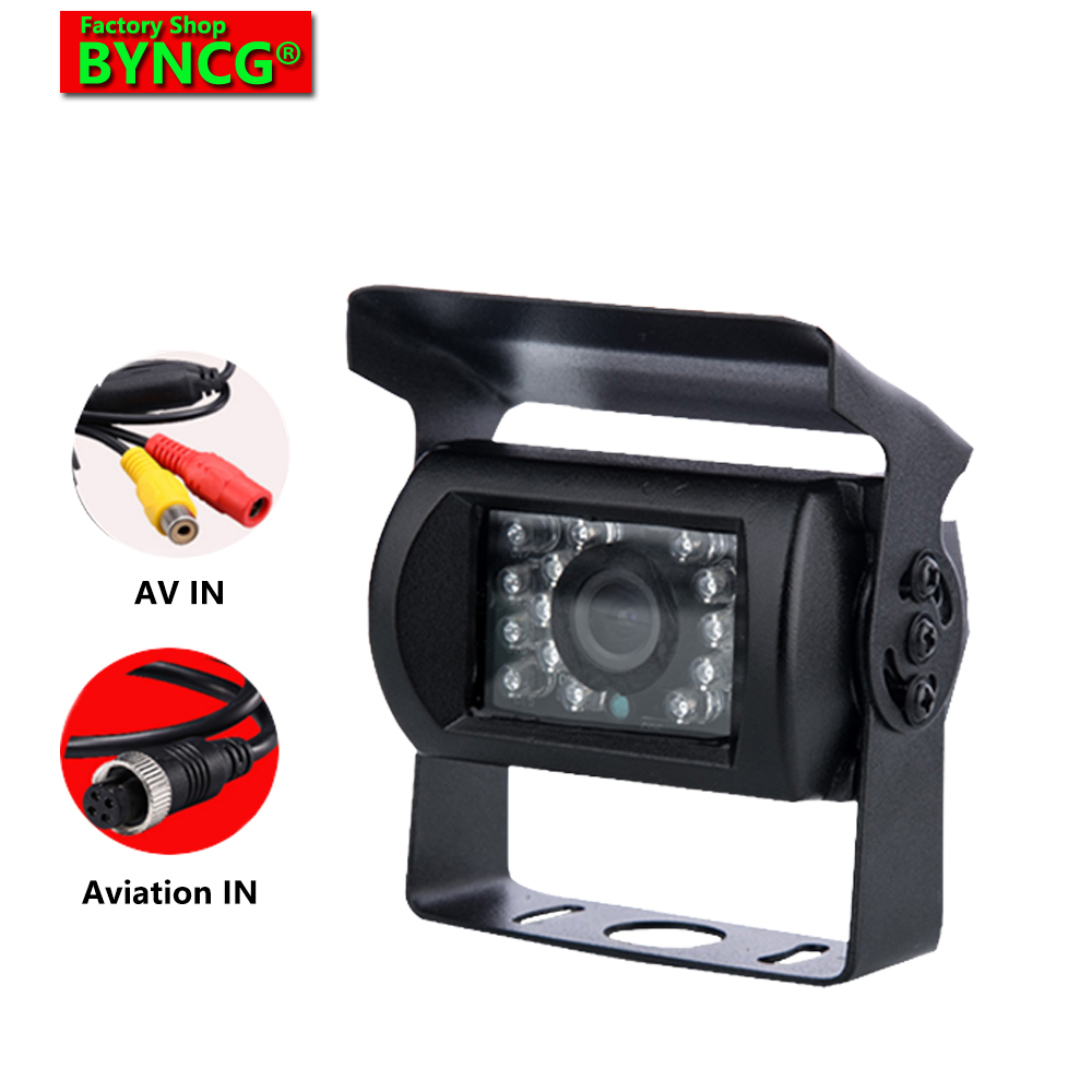 BYNCG DB18 IR LEDs Rear View Car Camera 9-36v Bus Bus Lorry IR Nightvision ضد آب ماشین عقب مشاهده دوربین