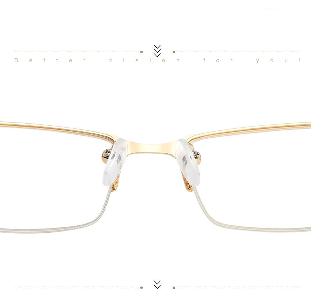 Eyewear Square Gaming Computer Glasses Women Men Blue Semi-rimless Light Glasses Comfortable Blue Glasse (11)