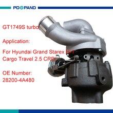 Нагнетатель турбо комплект BV43 для HYUNDAI D4CB дизельным двигателем 2.5L 2,5 CRDi 125KW 170HP 53039880145 53039880127