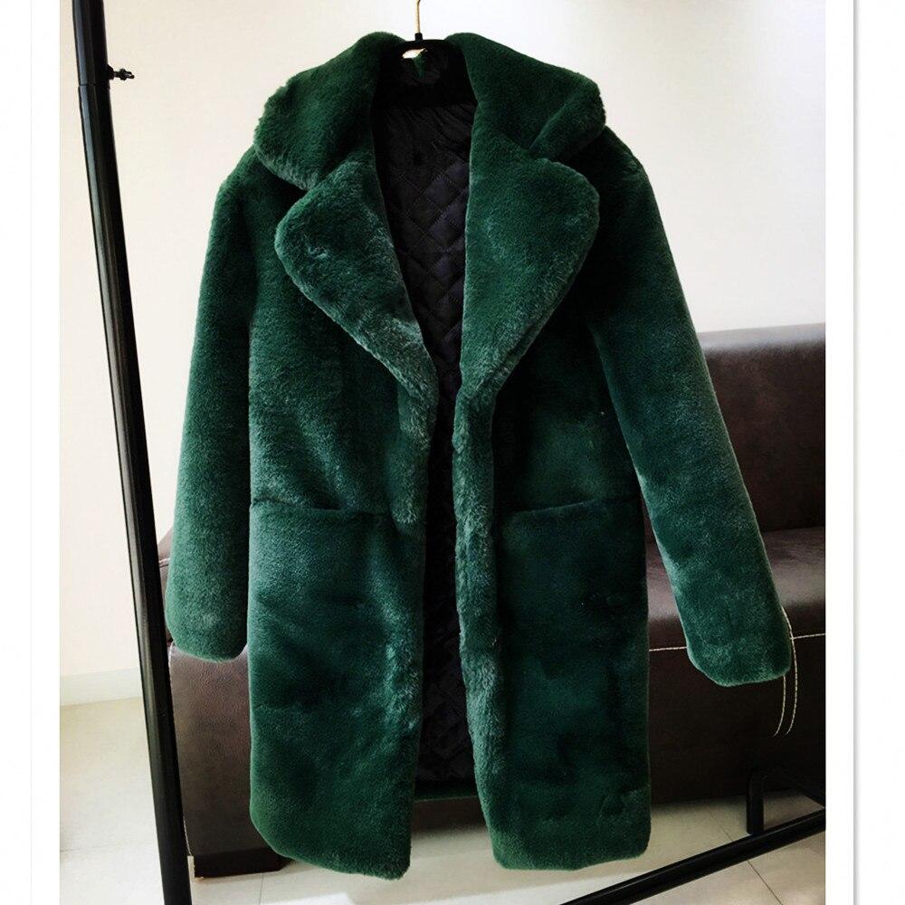 Herbst Frauen Damen Jacken In Unten Kunstpelz 4 Langarm Winter Mäntel Aus Grün Jacke Kragen Für 20Off Und Mantel Drehen Us78 Mode 2017 R5AL4jq3