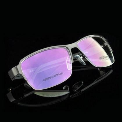 Commercial gentleman Optical Men Big Frame Glasses business men full half frame Metal alloy Eye Glasses FrameHighquality9029