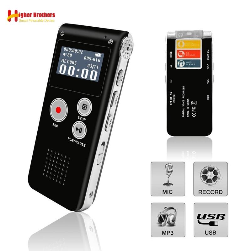 Digital Voice Recorder Unterhaltungselektronik Tragbare 8g/16g Voice Recorder Usb 96 Stunden Wiedergabe Diktiergerät Digital Audio Sound Voice Recorder Mit Wav Mp3 Player Warmes Lob Von Kunden Zu Gewinnen
