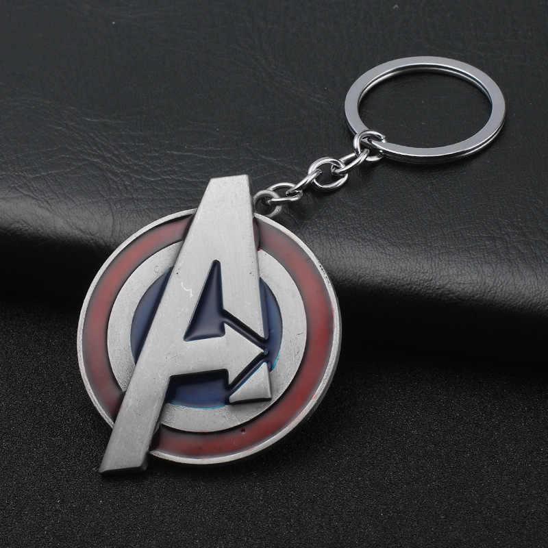 Mới Marvel Avengers Móc Khóa Thor Thor búa Mjolnir Móc Khóa Khiên Captain America Hulk Batman mặt nạ Móc khóa nam Tặng