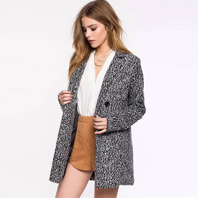 Double breasted lapel wool coat 3