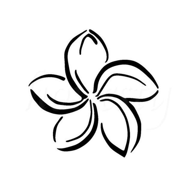Plumeria Flower Personality Car Stickers Wall Home Glass Window Door