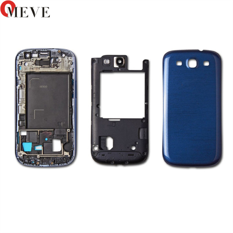 10sets Full Housing for Samsung Galaxy S3 I9300 i9305 s3 neo 9300i 9308i Front Frame+Middle Frame+Battery Cover door Repair-in Mobile Phone Housings & Frames from Cellphones & Telecommunications