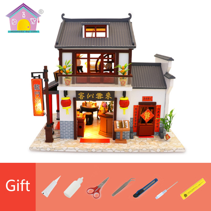 Wooden Doll House Assembly DIY House Model Creative Toy Birthday Gift Handmade Dollhouse Miniatures Toys For Children Gifts M901Wooden Doll House Assembly DIY House Model Creative Toy Birthday Gift Handmade Dollhouse Miniatures Toys For Children Gifts M901