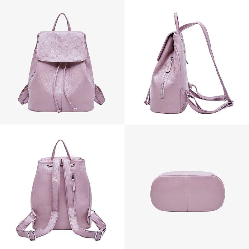 48b4a97cf8d6 ... Фото 2 BOYATU рюкзак из натуральной кожи Женский рюкзак Женский рюкзак  мешок с Дос старинные женщины ...