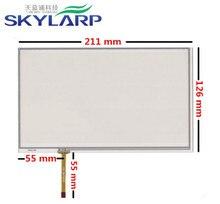 9 дюймов 4 провода 211 мм * 126 мм Резистивный Сенсорный Экран Digitizer для GPS навигатор Автомобильной навигации DVD HSD090IDW1 AT090TN10 12