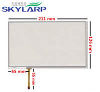 9 Inch 4 Wire 211mm 126mm Resistive Touch Screen Digitizer For GPS Navigator Car Navigation DVD
