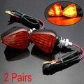 4 Unids Universal 13 LED Motocicleta Turn Indicadores de Señal de Luz de Lámpara Ámbar