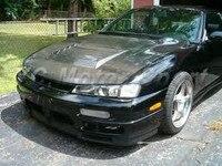 Accesorios de coche de fibra de carbono DM estilo capó ajuste para 1989-1994 180SX RPS13 cubierta de capó estilo de coche